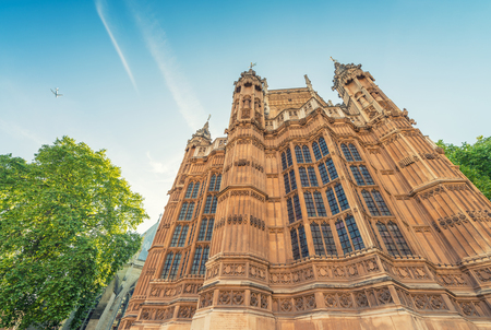 titled: Westminster Abbey, formally titled the Collegiate Church of St Peter at Westminster, London. Stock Photo