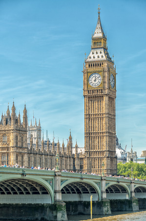 tower house: Westminster and Big Ben on a beautiful day, London - UK. Editorial
