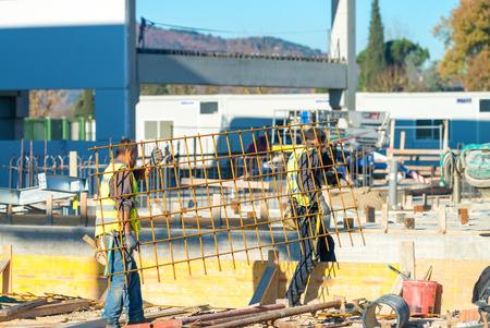 site: Industrial construction site.