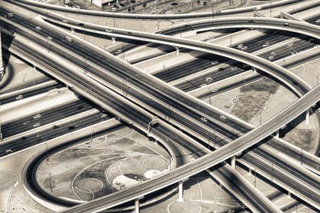 elevated: Aerial view of Elevated Interstate Interchange.