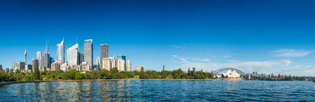 Sydney, Australia. Giant panoramic city view from Farm Cove.