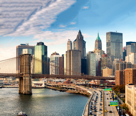 Magnificence of New York skyline.