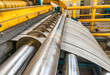 High precision sheet metal cutting machinery. Stock Photo