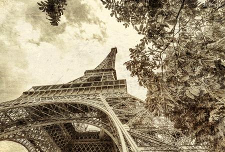 Vintage photo of Paris.