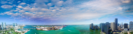 city of miami: Aerial view of Miami skyline.