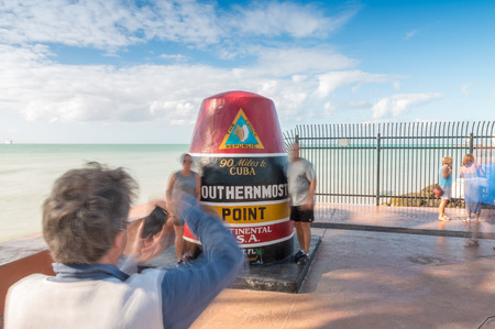 southernmost: Moving tourists around Southernmost Point, Key West.