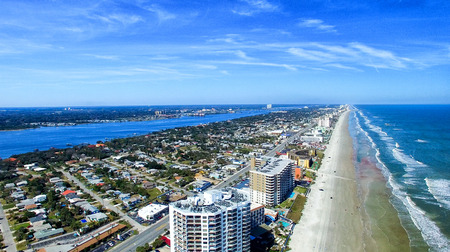 Daytona Beach, Florida. Beautiful aerial view. 免版税图像