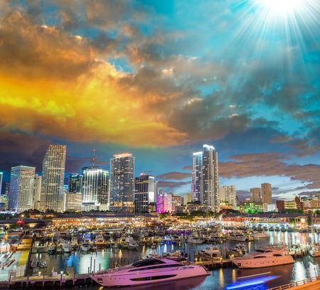 miami florida: Stunning skyline of Miami, Florida.