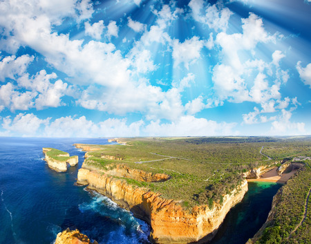 ard: Loch Ard Gorge and Mutton Bird Island, Australia.