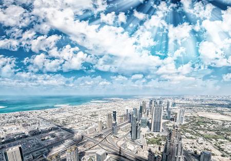 Beautiful skyline and buildings of Dubai, UAE. Stock Photo