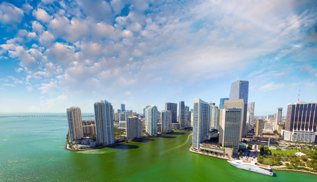 oceanfront: Miami Downtown, aerial view.