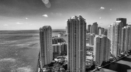 miami florida: Downtown Miami, Florida. Amazing aerial view.