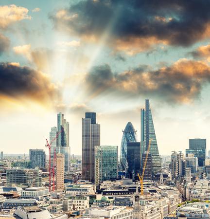 district: London Financial District, UK.