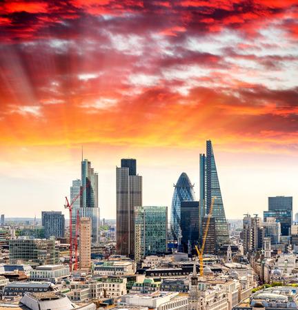 London Financial District, UK.