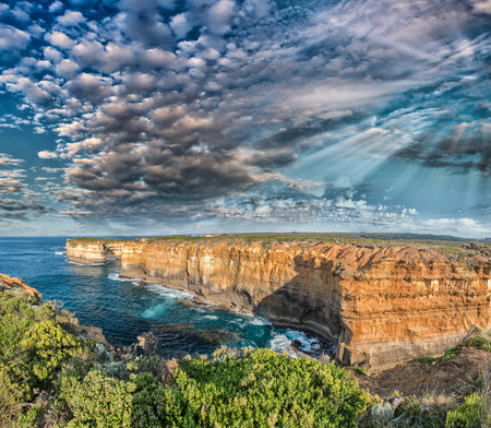 and the magnificent: Magnificent coastal view along Razorback viewpoint - Great Ocean Road, Australia.