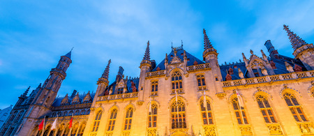 bruges: Provincial Hof, Bruges at night.
