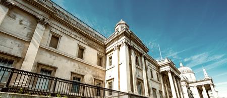 trafalgar: Buildings of Trafalgar Square, London.
