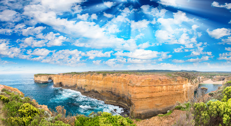 Magnificent coastal view along Razorback viewpoint - Great Ocean Road, Australia.