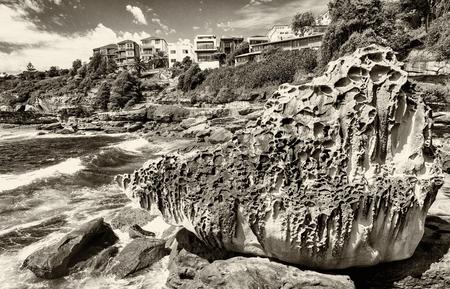 coastline: Bondi Beach coastline, Sydney.
