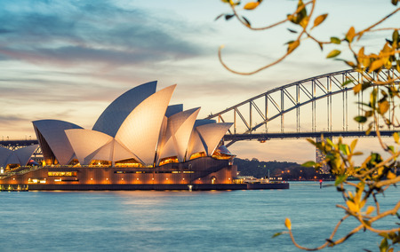 SYDNEY - OCTOBER 23, 2015: Beautiful panoramic view of Sydney Harbour. Sydney attracts 10 million visitors around the globe annually. Editoriali