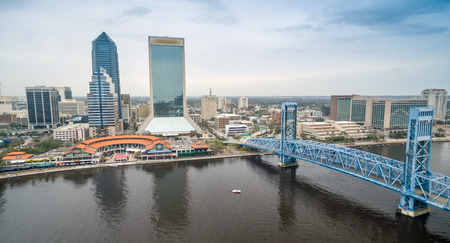 Jacksonville - City aerial view.