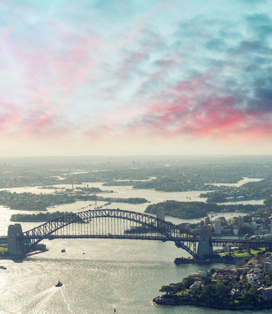 sydney australia: Sydney, Australia. Awesome aerial view from helicopter on a beautiful day.