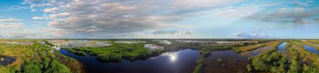 everglades: Helicopter view of Everglades, Florida.