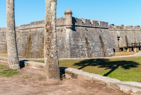 St Augustine Castle. Fortifies walls on a sunny day. Editorial