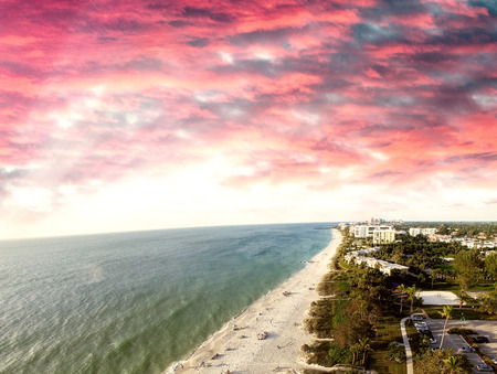 coastline: Naples coastline, Florida.