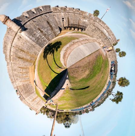 marcos: Planet St Augustine - Miniature planet of St Augustine San Marcos Castle.