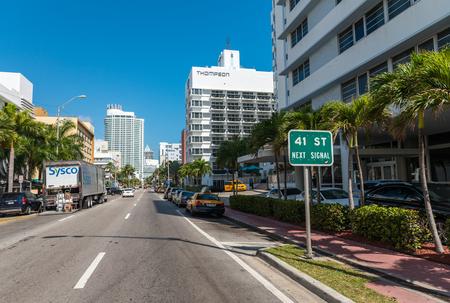 10 12: MIAMI BEACH - JANUARY 12, 2016: Miami skyline at dusk. The city attracts 10 million tourists annually.