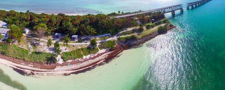 HONDA: Bahia Honda state park aerial view, Florida. Stock Photo