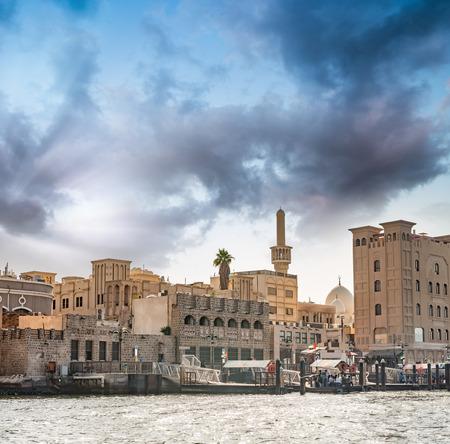 bastakiya: Old Dubai buildings.