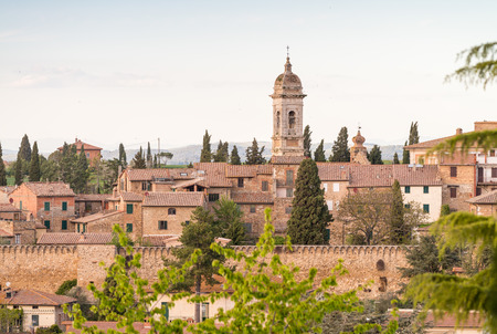 san quirico: San Quirico, Tuscany. Panoramic view.