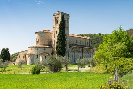 antimo: SantAntimo Abbey, Tuscany - Italy. Stock Photo