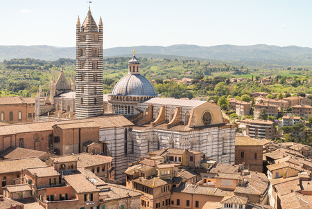 siena italy: Panoramic view of Siena, Italy.