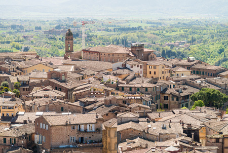 Siena, Tuscan town, Italy. Medieval architecture.