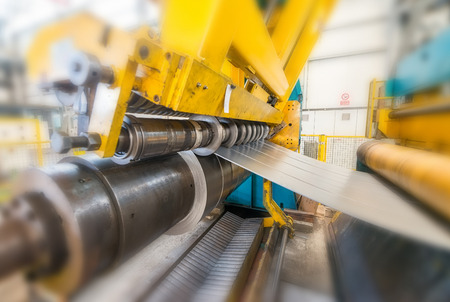 Metal cutter machine. Stock Photo