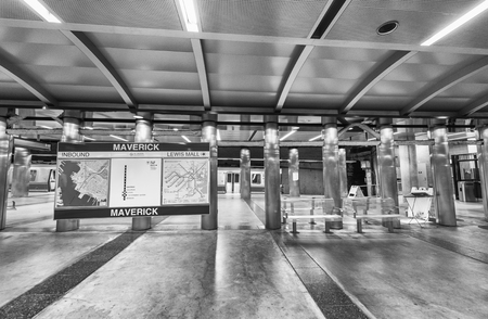 best way: BOSTON - OCTOBER 17, 2015: Subway station interior. Going by subway is the best way to move around the city. Editorial