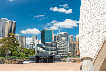 cbd: Sydney CBD, Central Business District from Circular Quay. Stock Photo