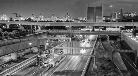 interstate: Tokyo Interstate night traffic.