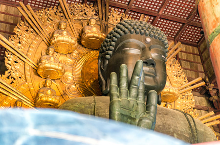 todaiji: The Great Buddha (Daibutsu-Den) at Todai-ji temple in Nara, Japan.