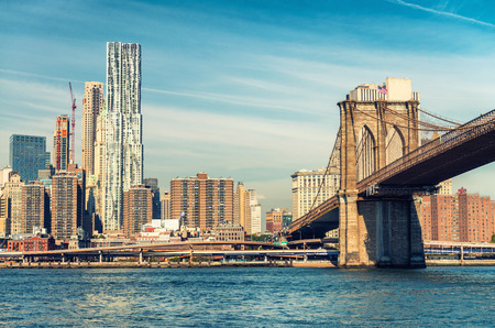 magnificence: Magnificence of Brooklyn Bridge. New York City - USA.