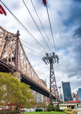 roosevelt: Bridge of Roosevelt Island, New York City. Stock Photo