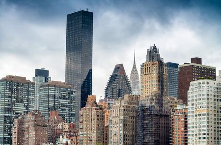 roosevelt: Manhattan skyline from Roosevelt Island, New York City.