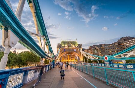 magnificence: The Tower Bridge magnificence in London. Stock Photo
