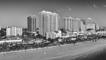 preferred: City aerial skyline on a sunny morning. Fort Lauderdale is a preferred tourist destination.