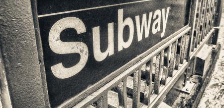 subway entrance: Subway entrance. Stock Photo