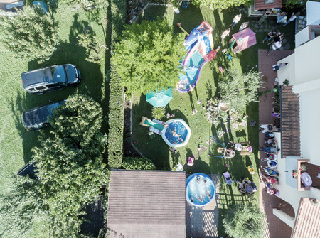 children party: Aerial view of Children Party.
