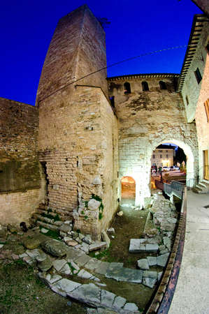spello: Ancient Architecture of Spello in Umbria, Italy Stock Photo